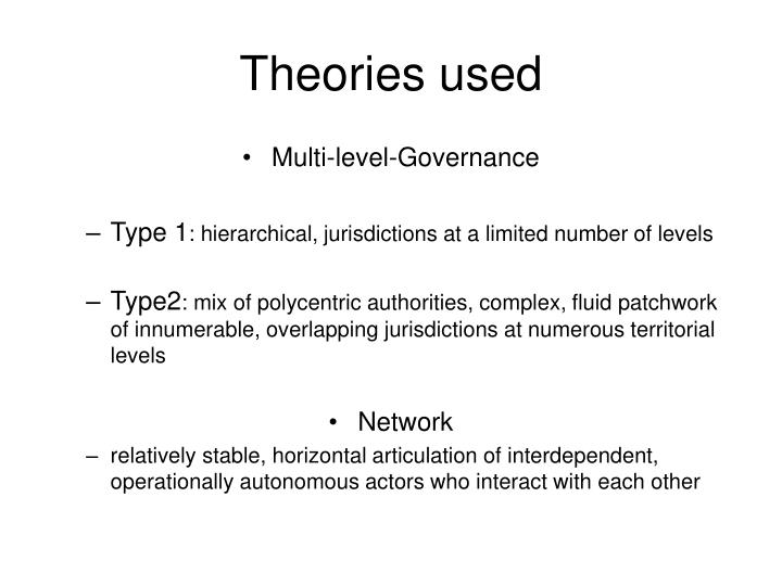 Theories used