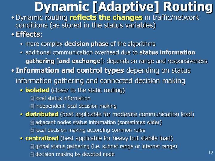 Dynamic [Adaptive] Routing