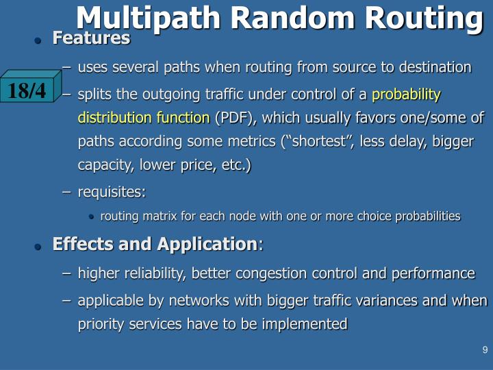 Multipath Random Routing