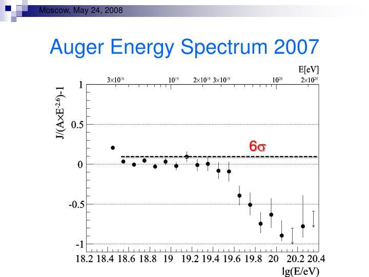 Auger Energy Spectrum 2007