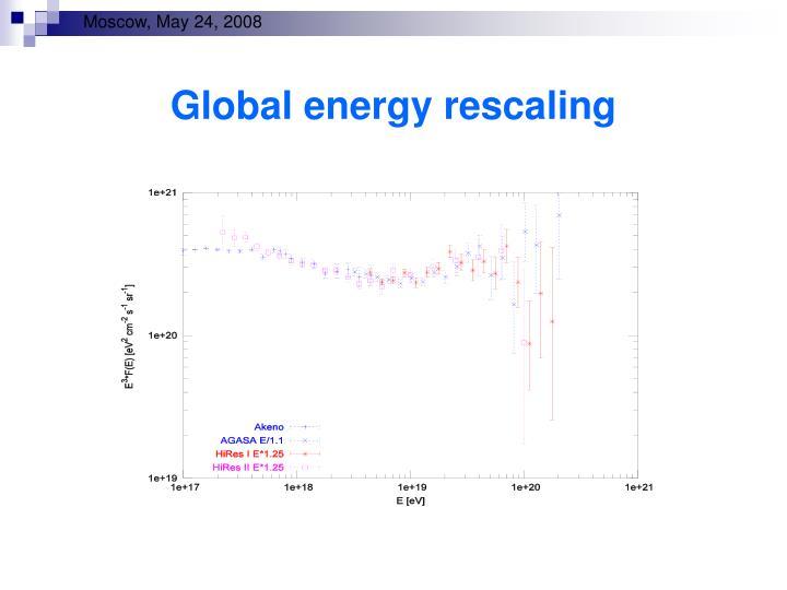 Global energy rescaling