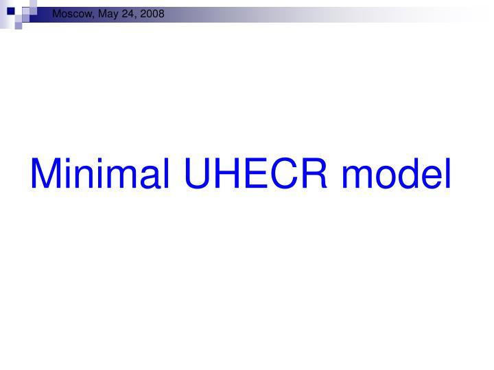Minimal UHECR model