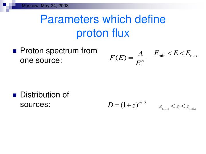Parameters which define