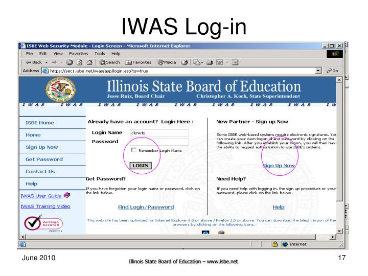 IWAS Log-in