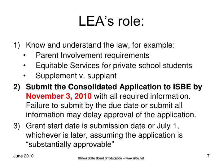 LEA's role: