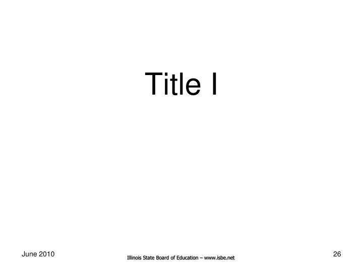 Title I
