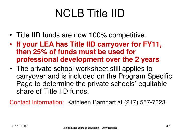 NCLB Title IID