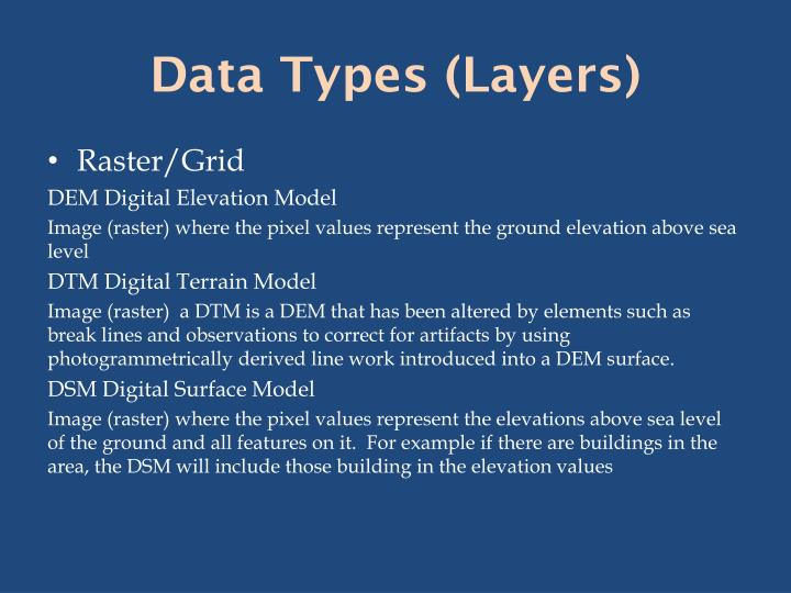 Data Types (Layers)