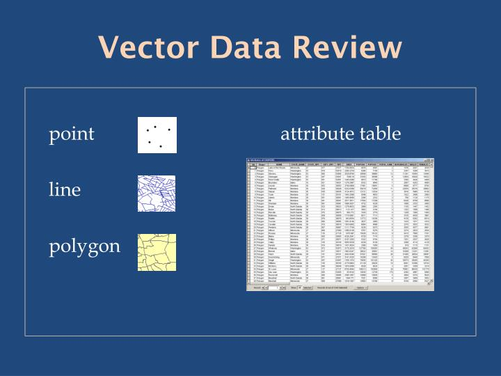 Vector data review