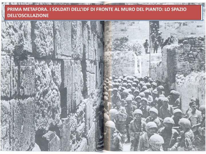 PRIMA METAFORA. I SOLDATI DELL'IDF DI FRONTE AL MURO DEL PIANTO: LO SPAZIO DELL'OSCILLAZIONE