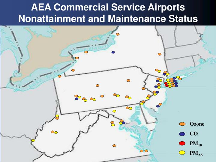 AEA Commercial Service Airports
