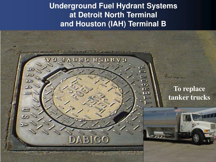 Underground Fuel Hydrant Systems