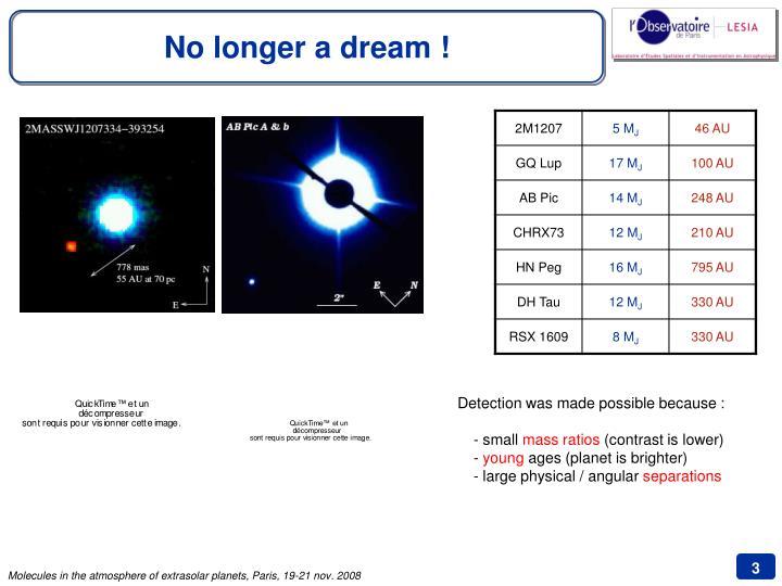 No longer a dream !
