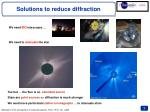 solutions to reduce diffraction