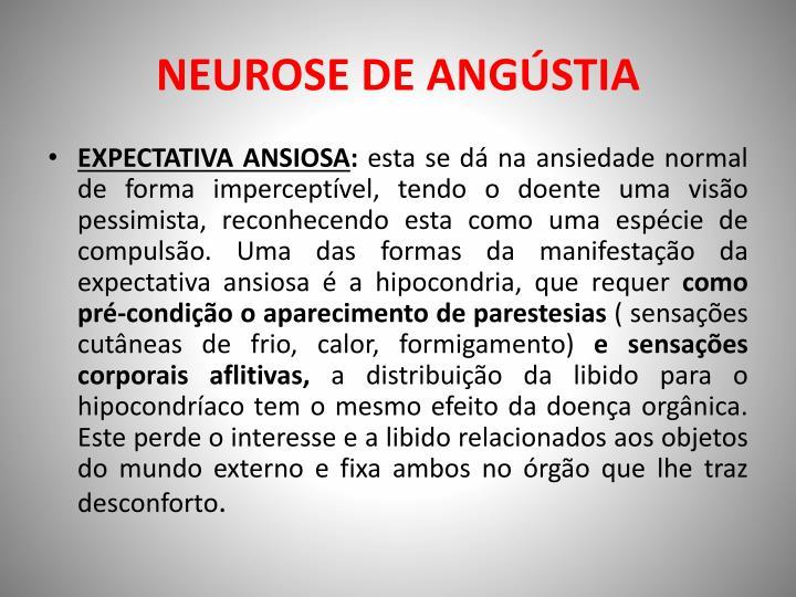 NEUROSE DE ANGÚSTIA