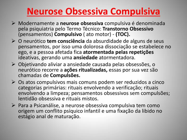 Neurose Obsessiva Compulsiva