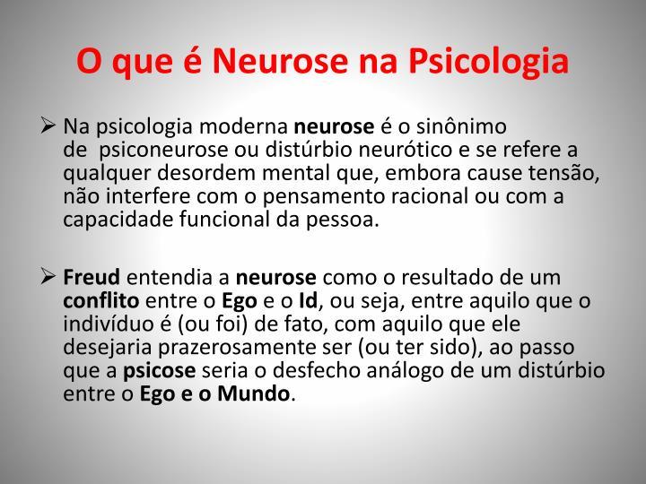 O que é Neurose na Psicologia