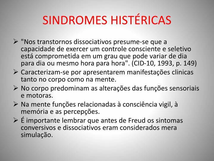 SINDROMES HISTÉRICAS