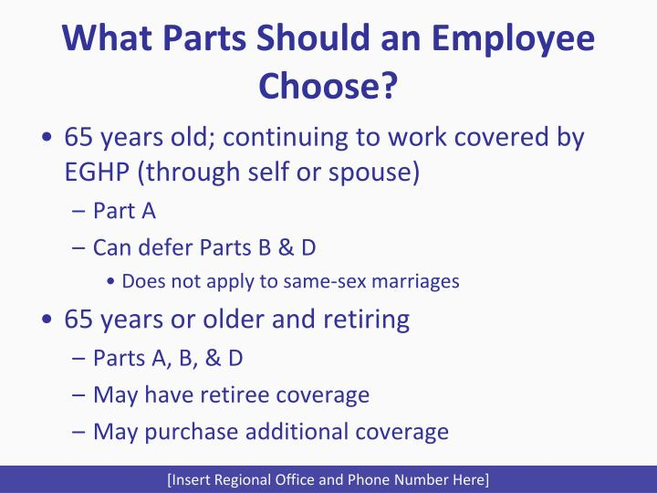 What Parts Should an Employee Choose?
