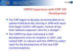 crpph experience with icrp 103 development