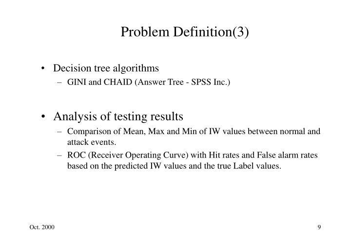 Problem Definition(3)