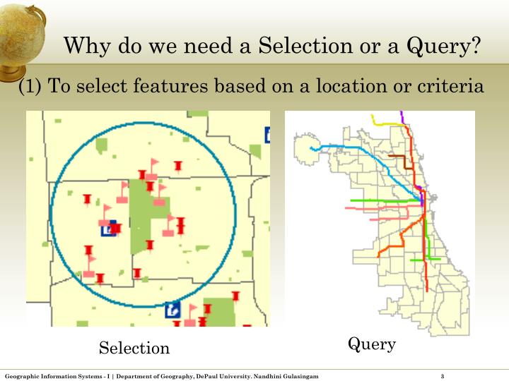 Why do we need a Selection or a Query?