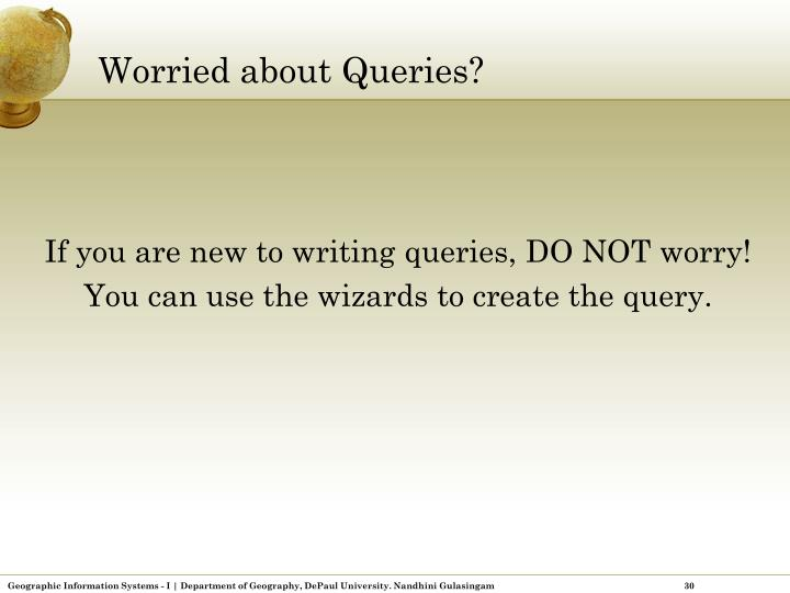 Worried about Queries?