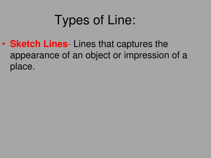 Types of Line: