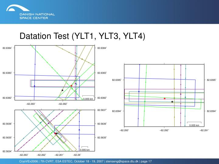 Datation Test (YLT1, YLT3, YLT4)