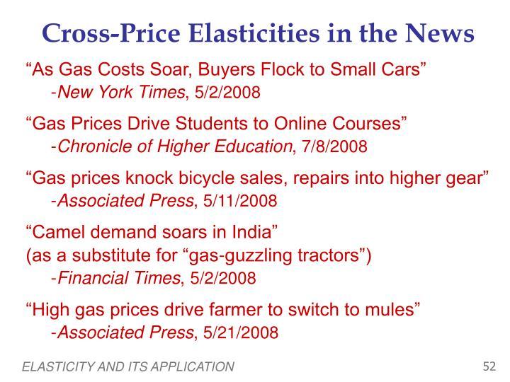 Cross-Price Elasticities in the News