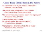 cross price elasticities in the news