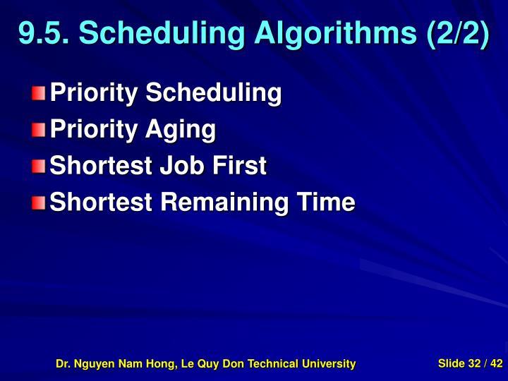 9.5. Scheduling Algorithms (2/2)