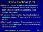 critical sections 1 2