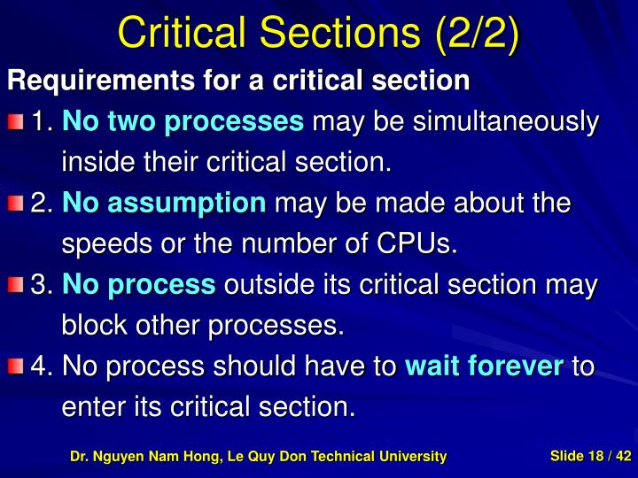 Critical Sections (2/2)