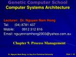 genetic computer school computer systems architecture