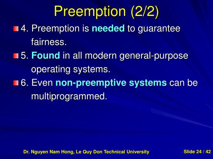 Preemption (2/2)