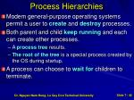 process hierarchies