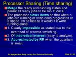 processor sharing time sharing