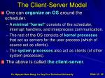 the client server model