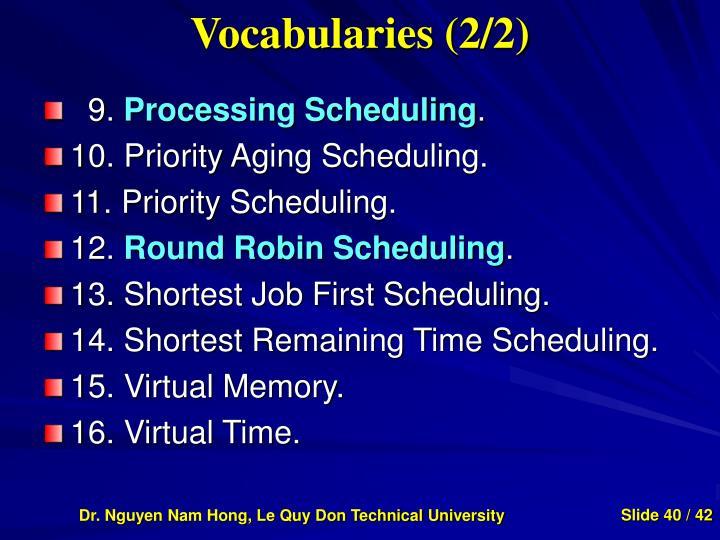 Vocabularies (2/2)