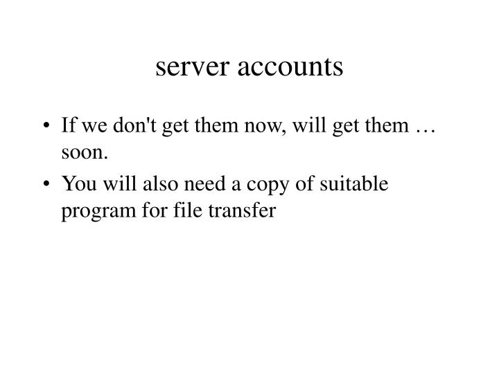 server accounts