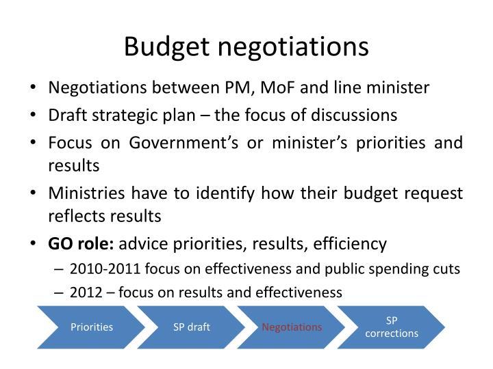 Budget negotiations