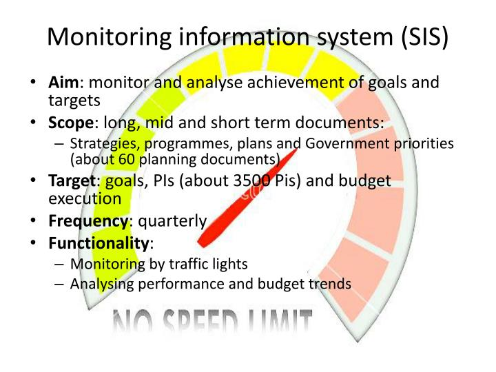 Monitoring information system (SIS)