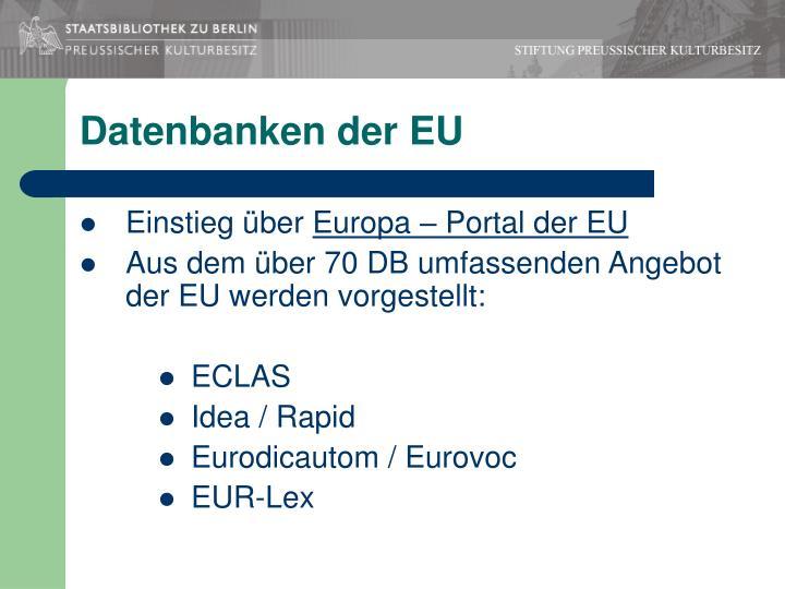 Datenbanken der EU