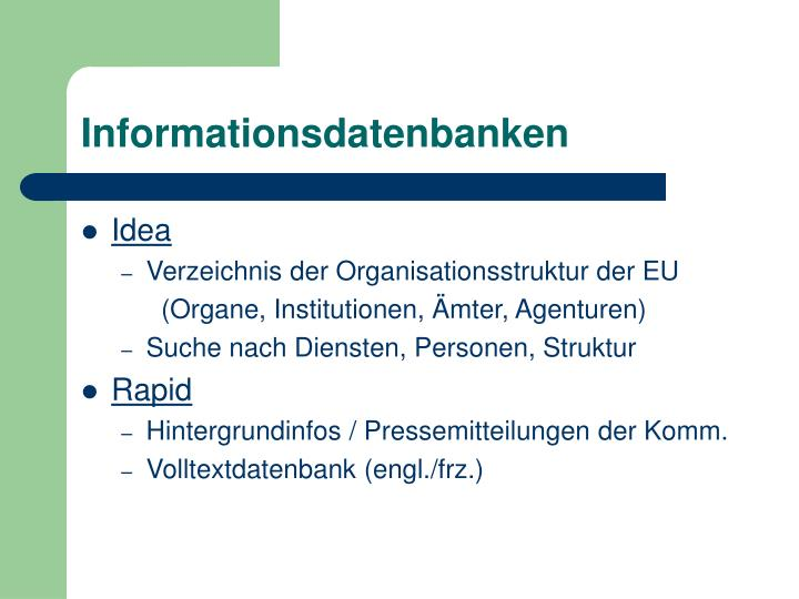 Informationsdatenbanken