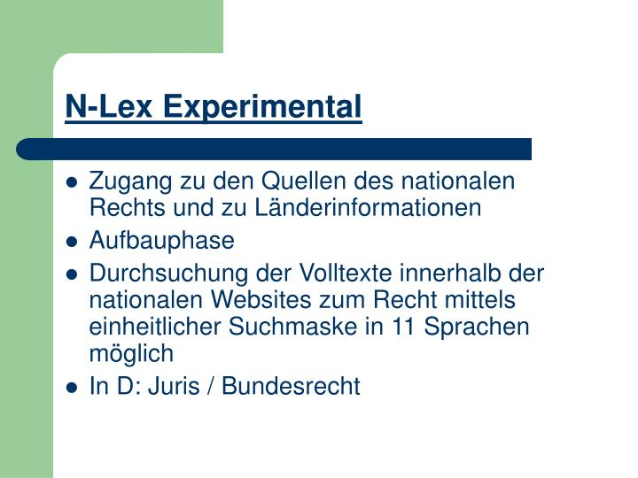 N-Lex Experimental