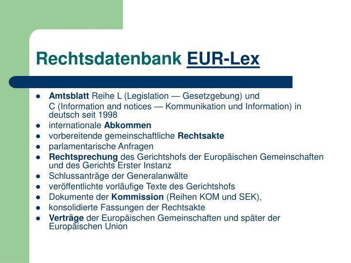 Rechtsdatenbank