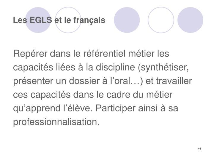 Les EGLS et le français