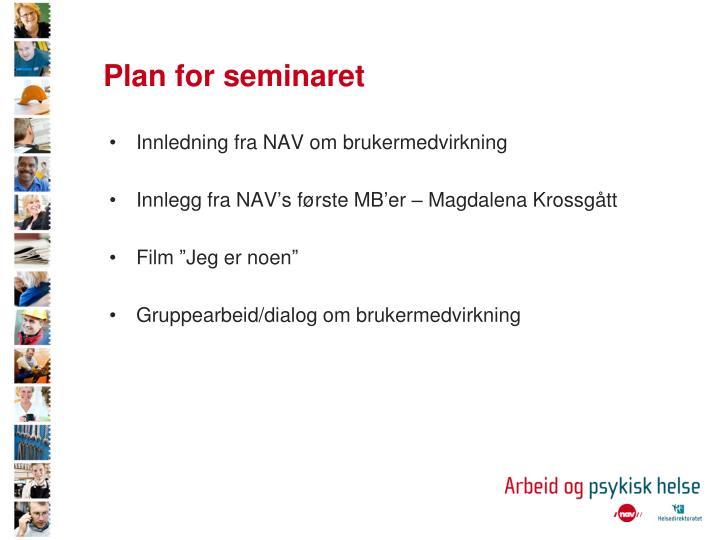 Plan for seminaret