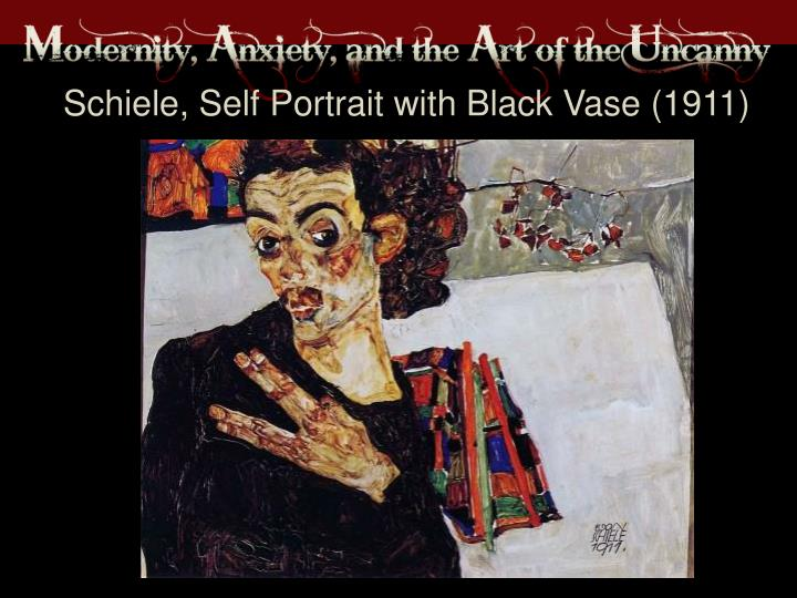 Schiele, Self Portrait with Black Vase (1911)